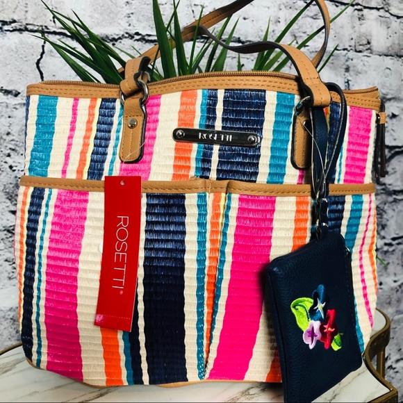 Rosetti Handbags - Rosetti Striped Purse with matching Coin Purse